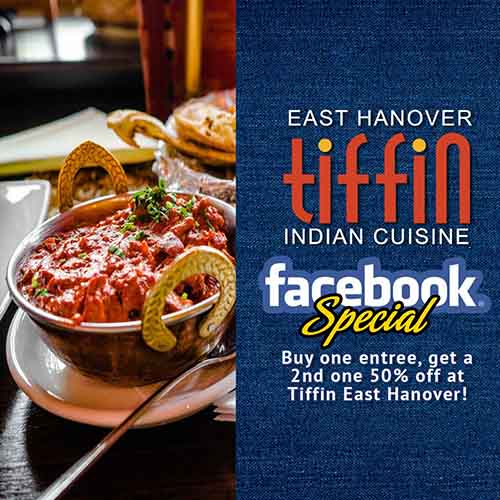Visit our spacious dining room and ask for the Facebook special to get any two entrées on the menu. Share with someone special or take one home for later. Dine in only between 5pm-10pm. 50% discount must be on 2nd entrée of equal or lesser value.