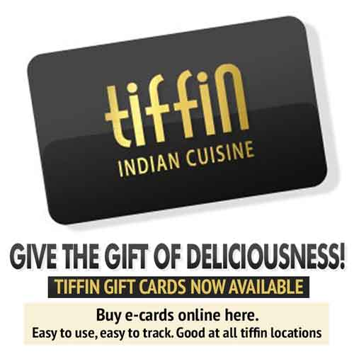 Like & Review Your Favorite Tiffin Indian Cuisine Location on Facebook:  Northern Liberties 19123, South Philadelphia 19145, Mt. Airy 19119, King of Prussia 19406, Elkins Park 19027, Newtown Square 19073, Bryn Mawr 19010, Wynnewood 19096, Cherry Hill 08003